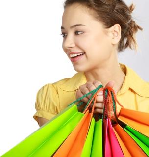 Girl Holding Bags